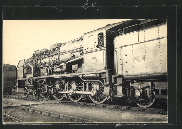 AK Locomotives du Sud-Ouest, Machine 4701, devenue 240 A 701, a surchauffeur Houlet 0