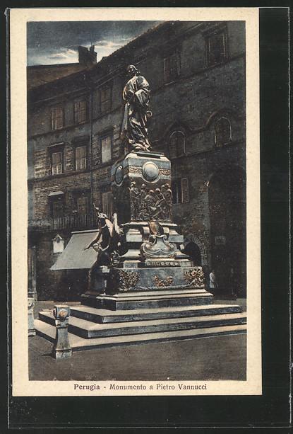 AK Perugia, Monumento a Pietro Vannucci 0