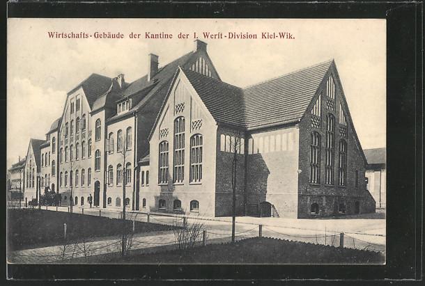 AK Kiel, Wirtschaftsgebäue der Kantine der I. Werft-Division 0