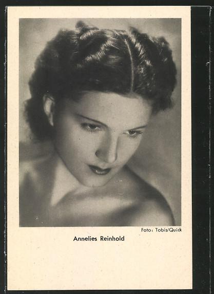 AK Schauspielerin Annelies Reinhold mit gesenktem Blick 0