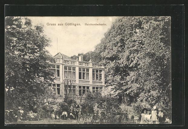 AK Göttingen, Blick zur Hainbundschenke 0