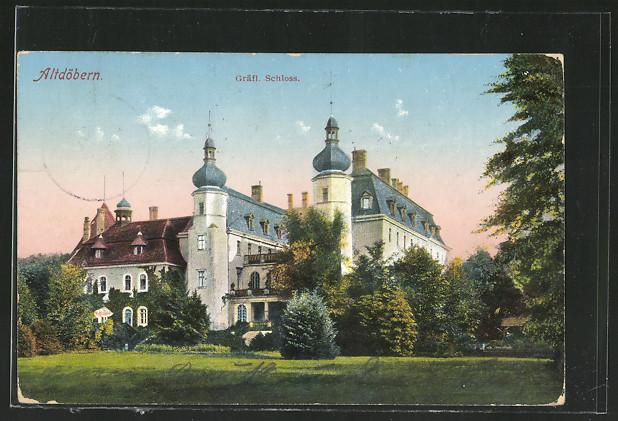 AK Altdöbern, Gräfl. Schloss