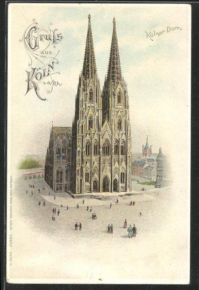 Lithographie Köln,  Kölner Dom 0