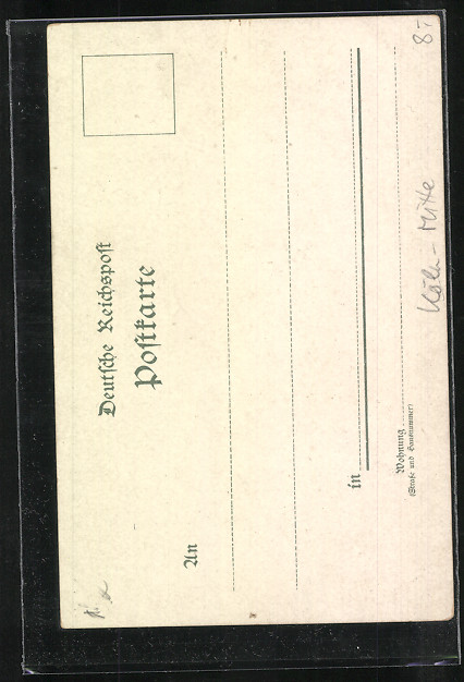 Lithographie Köln,  Kölner Dom 1
