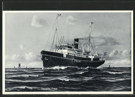 AK Passagierschiff Frem auf hoher See 0