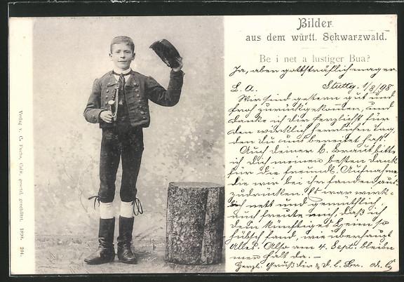 AK Knabe aus dem württem. Schwarzwald, Tracht 0