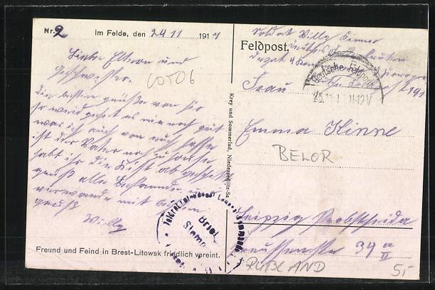 AK Brest-Litowsk, Friedhof mit Kirche 1