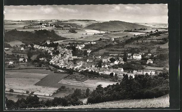 AK Waxweiler, Panorama-Ansicht der Ortschaft 0