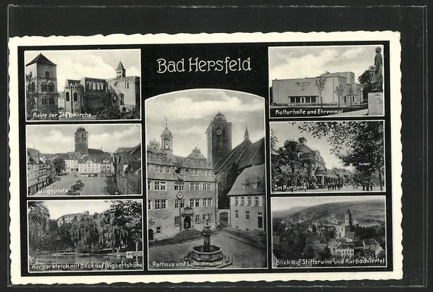 AK Bad Hersfeld, Kulturhalle, Ehrenmal und Linggplatz 0