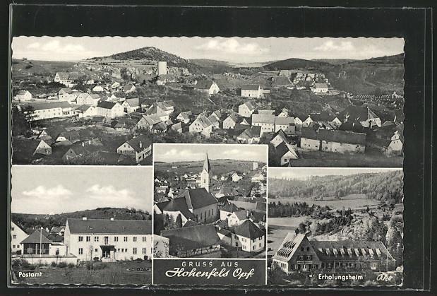 AK Hohenfels, Postamt, Erholungsheim, Ortsansicht 0
