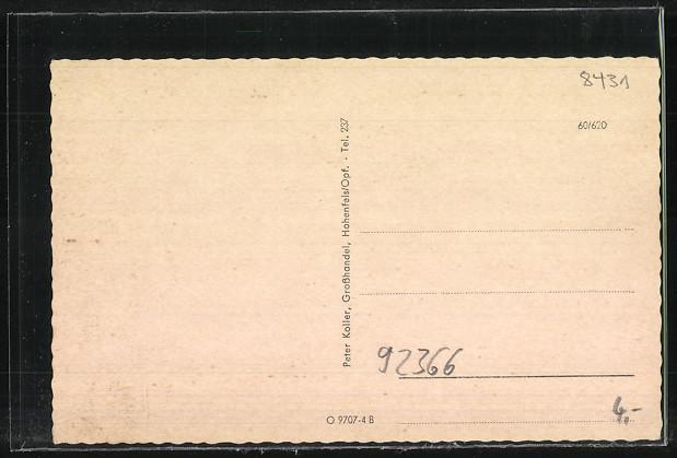 AK Hohenfels, Postamt, Erholungsheim, Ortsansicht 1