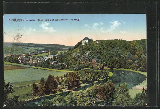 AK Hirschberg, Blick von der Kaiserhöhe im Hag 0