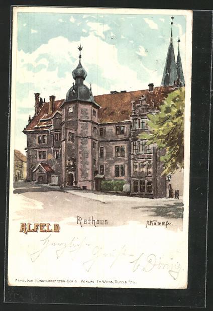 Künstler-AK Alfeld, Rathaus 0