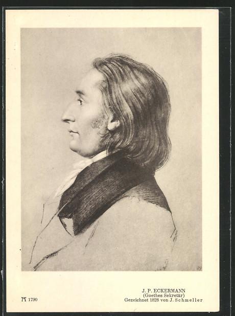 AK Portrait J. P. Eckermann, enger Vertrauter von Johann W. Goethe 0