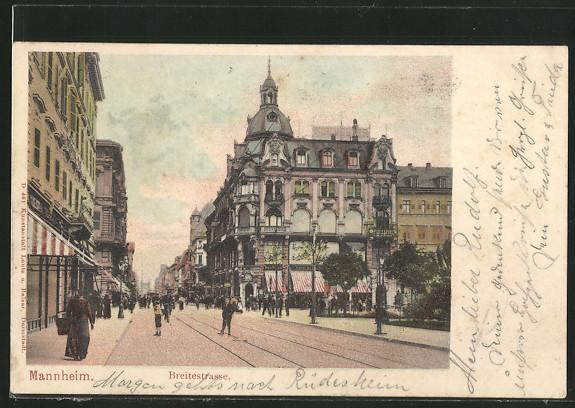 AK Mannheim, Breitestrasse 0