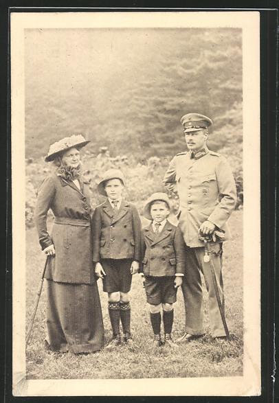AK Grossherzog Ernst Ludwig von Hessen-Darmstadt mit Familie 0