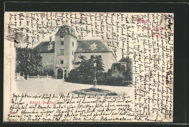 AK Doblhof, Blick auf das Schloss 0