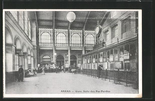 AK Arras, Gare, Salle des Pas-Perdus, Bahnhof 0