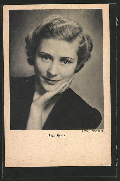 AK Schauspielerin Else Elster lächelnd in Kamera schauend 0