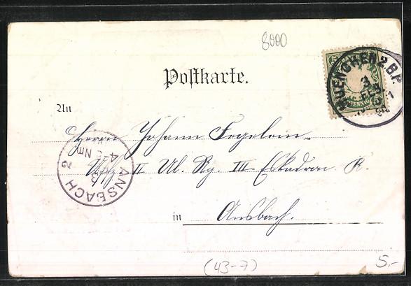 Künstler-AK München, Schäfflertanz 1900, Vortänzer Faustin Bauer, Tänzer-Comitee, Festumzug 1
