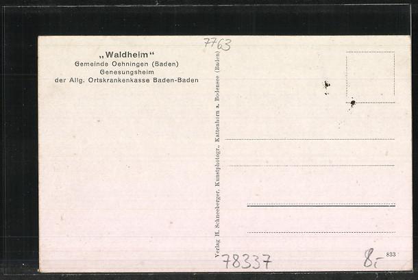 AK Öhningen, Genesungsheim Waldheim 1