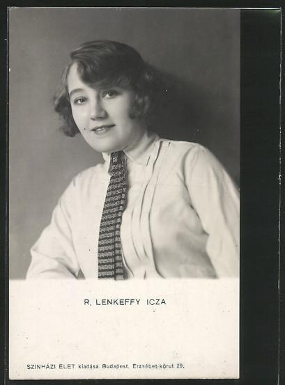 AK Schauspielerin Ica von Lenkeffy im Portrait  0