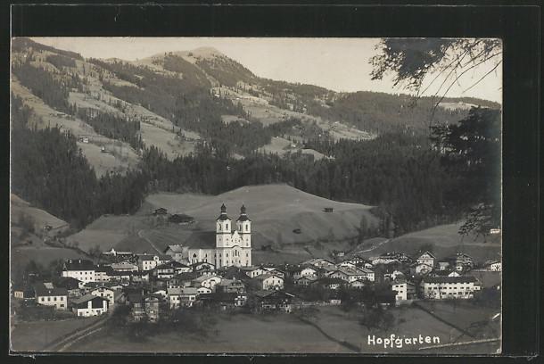 AK Hopfgarten, Gesamtansicht mit Kirche 0