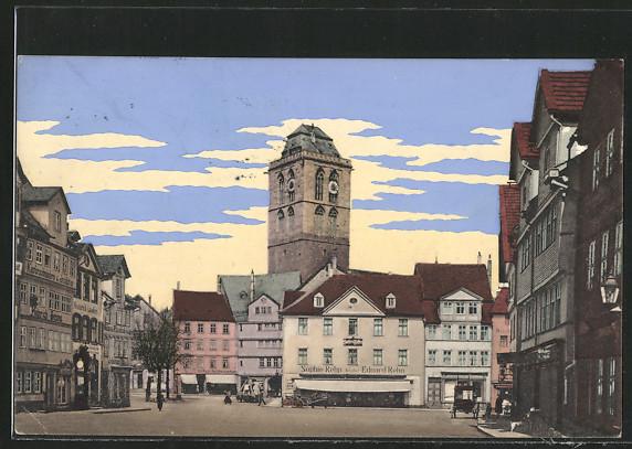 AK Bad Hersfeld, Linggplatz mit Geschäft Sophie Rehn Inh. Eduard Rehn und weiteren Geschäften 0