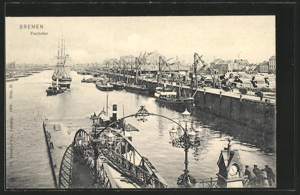AK Bremen, Freihafen, Schiffe 0