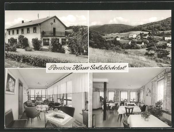 AK Wommelshäuser-Hütte, Haus Salzbödetal mit Speiseraum und Gesellschaftsraum 0
