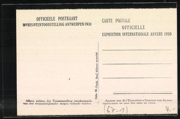 AK Anvers, Exposition Internationale 1930, Pavillon de la Finlande 1