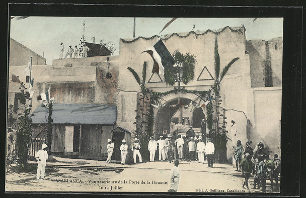 AK Casablanca, Vue extérieure de la Porte de la Douane 0