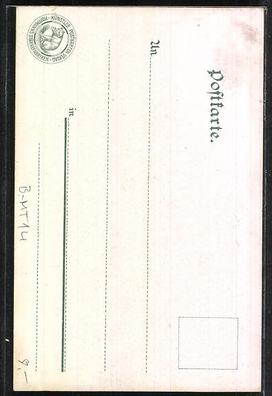 Lithographie Berlin, Leipzigerstrasse, Reichspostamt 1