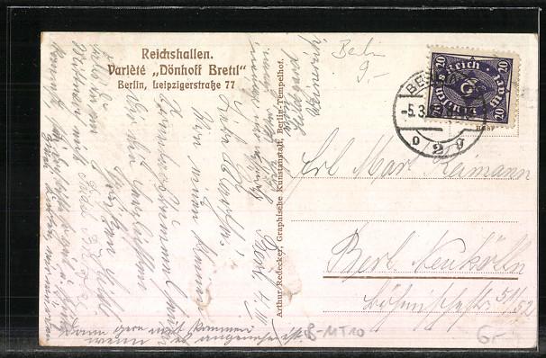 AK Berlin, Reichshallen, Variete \