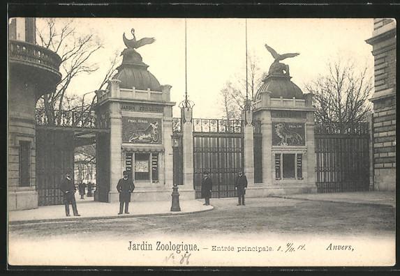 AK Antwerpen, Eingang Zoologischer Garten 0
