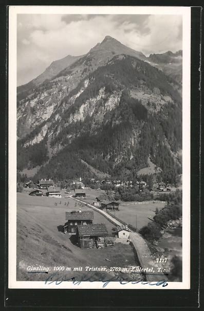 AK Ginzling im Zillertal, Ortsansicht mit Tristner