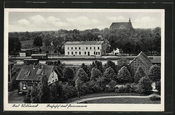 AK Wilsnack, Bahnhof und Panorama 0