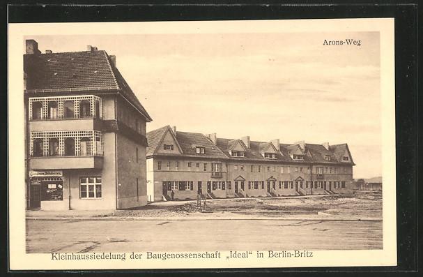AK Berlin-Britz, Kleinhaussiedlung der Baugenossenschaft \
