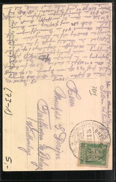 AK Breisach, Historische Festspiele, Peter von Hagenbach, Gustav Gräbling, Mann mit Eisenhut und Kettenhemd 1