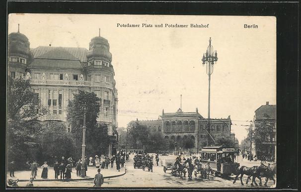 AK Berlin-Tiergarten, Potsdamer Bahnhof, Potsdamer Platz 0