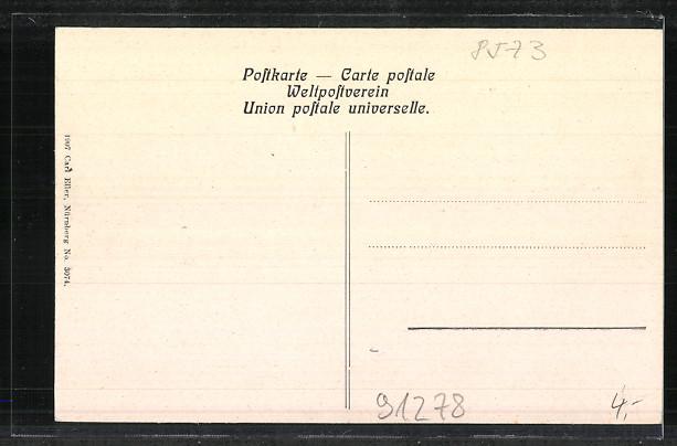 AK Pottenstein, Ansicht aus der Ferne 1