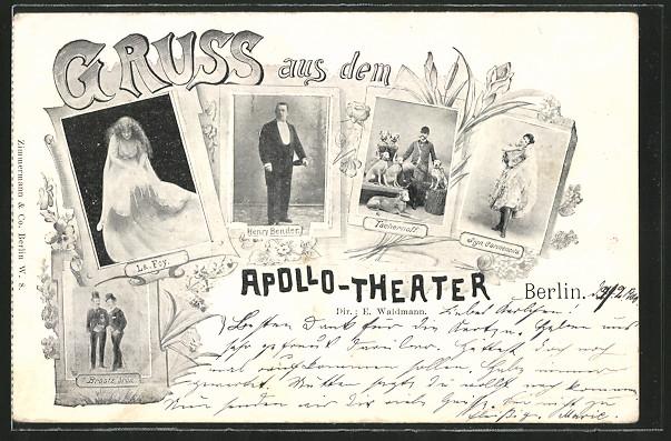 AK Berlin, Friedrichstrasse, Apollo-Theater, La Foy, Henry Bender, Braatz bros., Tschernoff   0
