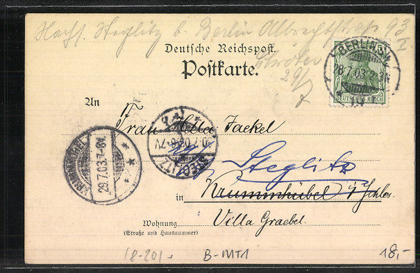 Lithographie Berlin, Reichsbank, Hausvogteiplatz 14 1