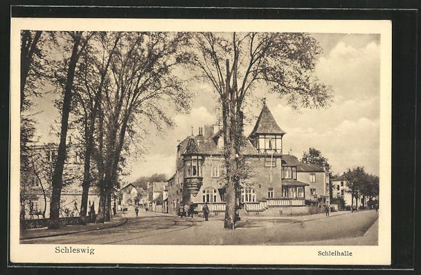 AK Schleswig, Strassenpartie an der Schleihalle 0
