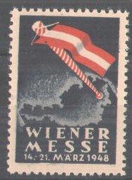 Reklamemarke Wiener Messe, 1948, Flaggenmast 0