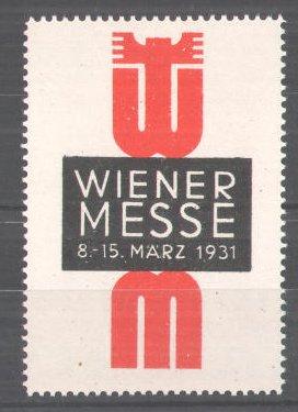 Reklamemarke Wiener Messe, 1931, Messelogo