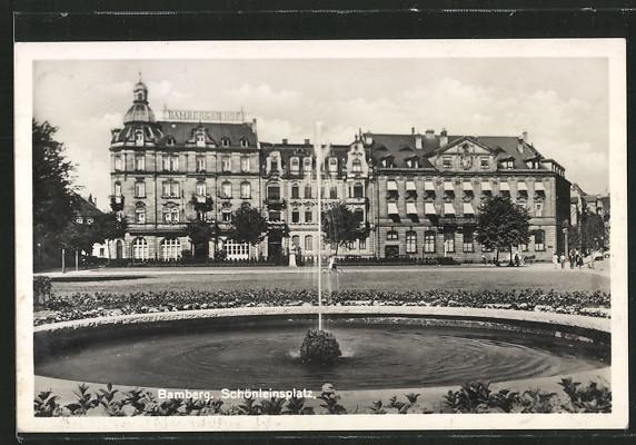 AK Bamberg, Schönleinsplatz mit Bamberger Hof 0