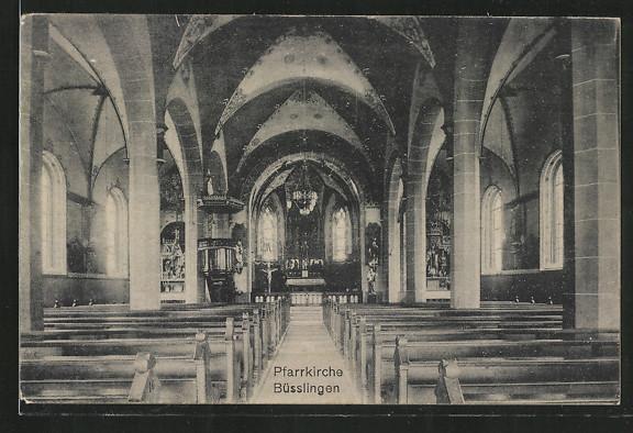 AK Büsslingen, Innenansicht d. Pfarrkirche 0