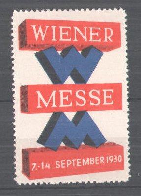 Reklamemarke Wiener Messe 1930, Messelogo 0