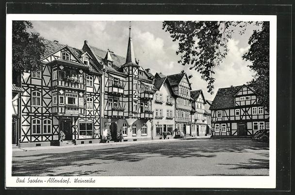 AK Bad Sooden-Allendorf, Weinreihe, Haus Taler 0